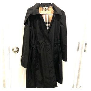 Burberry cinched raincoat bought at Bloomingdales